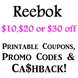 Reebok Promo Code & Cashback February 2016, March 2016