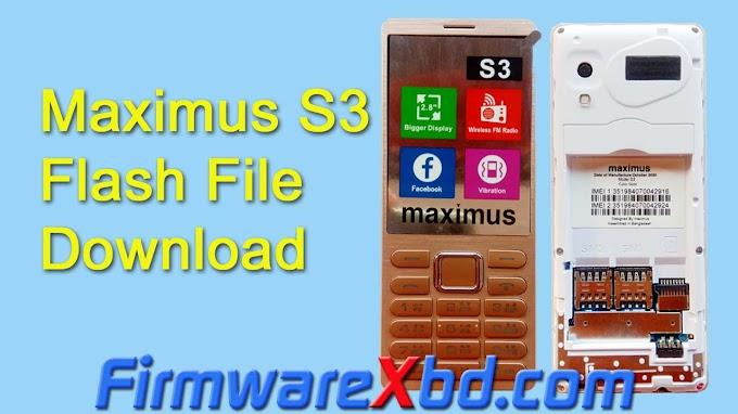 Maximus S3 Flash File Download 6531E Firmware 2020