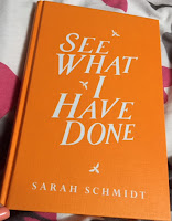 see what i have done book cover orange pages sarah schmidt