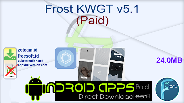 Frost KWGT v5.1 (Paid)_ ZcTeam.id