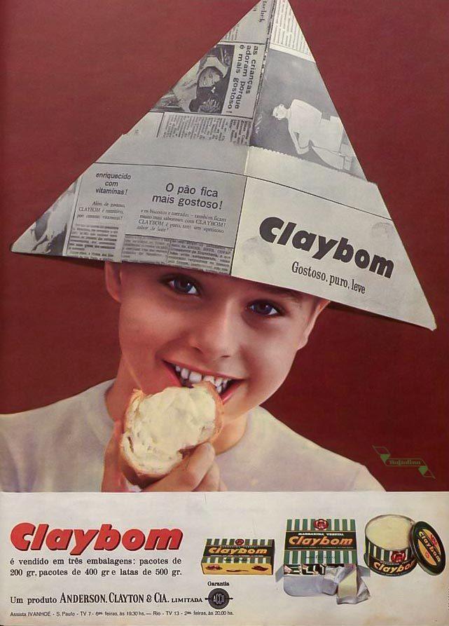Propaganda antiga da Margarina Claybom veiculada nos anos 60