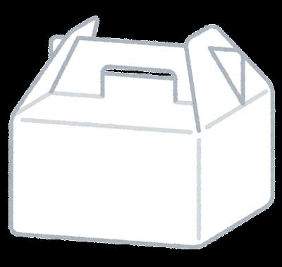 ケーキの箱のイラスト