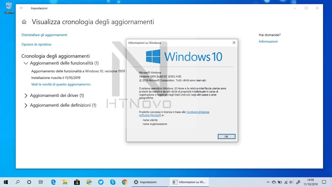 Aggiornamento-installato-Windows-10-versione-1909