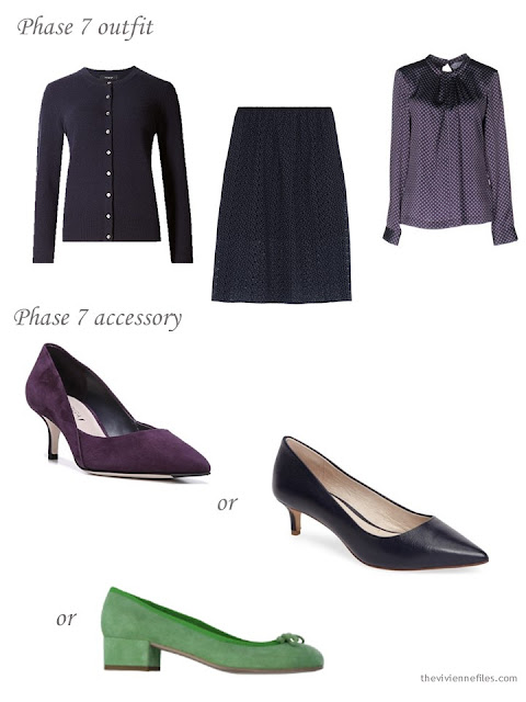 How to add accent shoes to a business capsule wardrobe