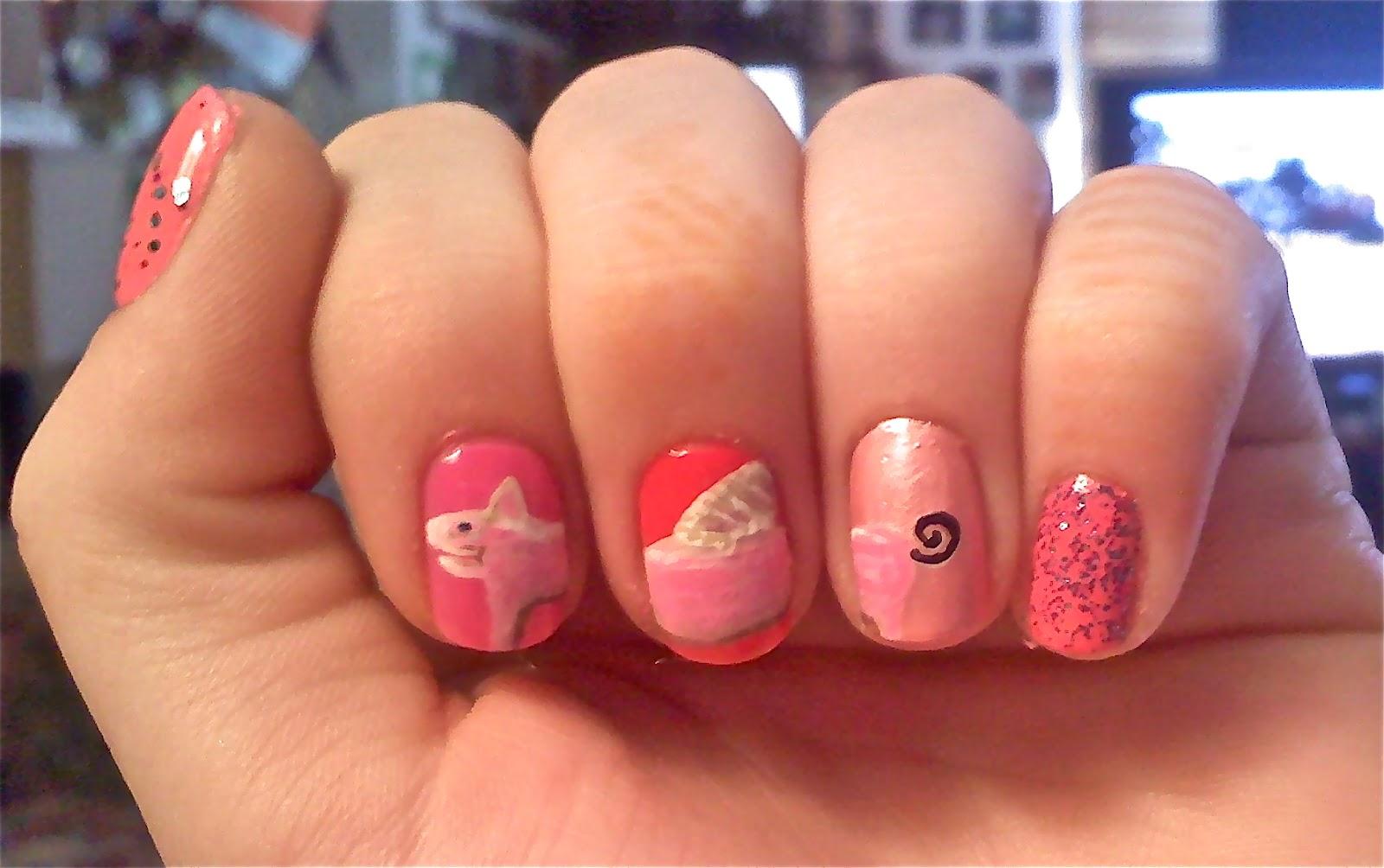 WeeklyWackyNails: Piggy Nail Art