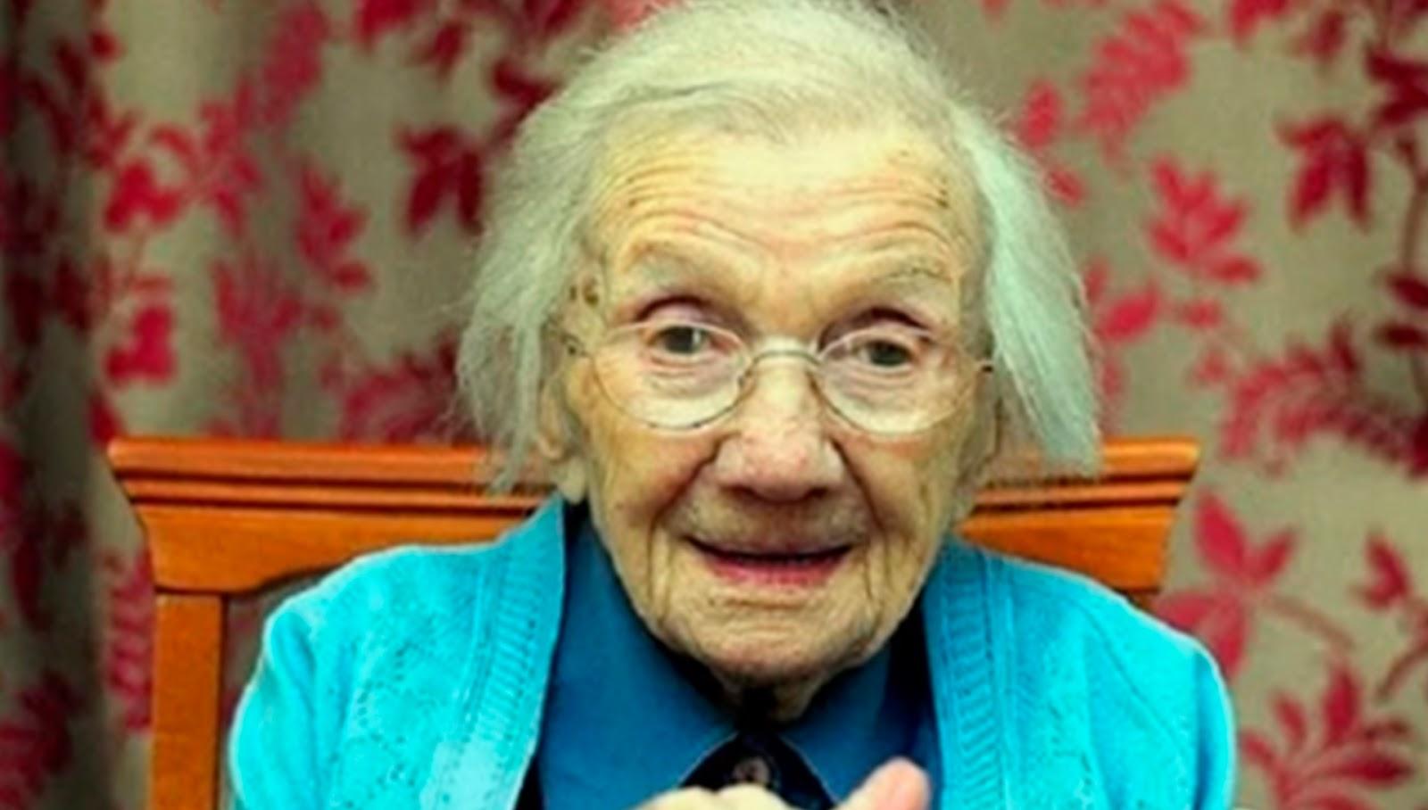 Abuelita de 109 años afirma que el secreto para una vida muy larga es evitar a los hombres