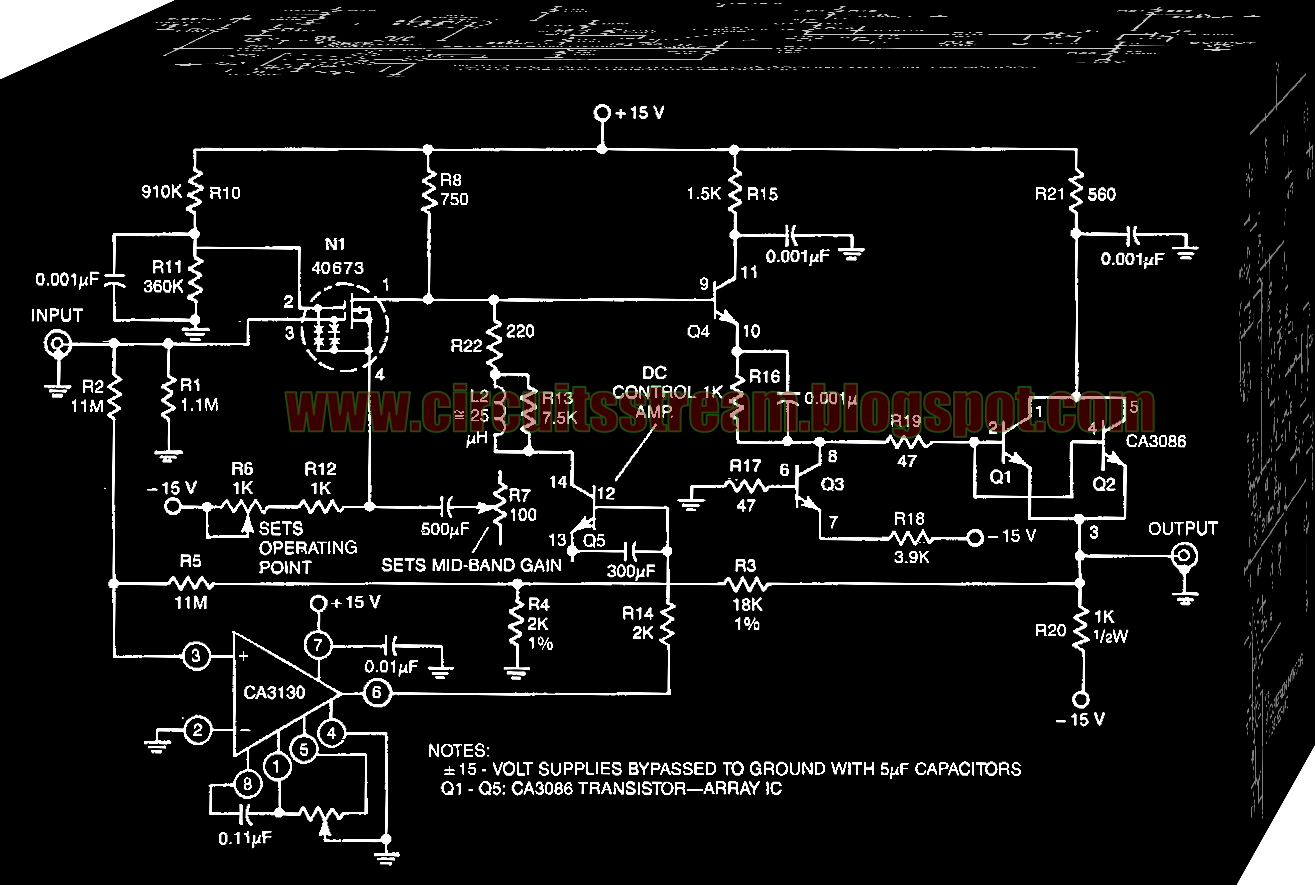 Wide band Instrumentation Amplifier Circuit Diagram