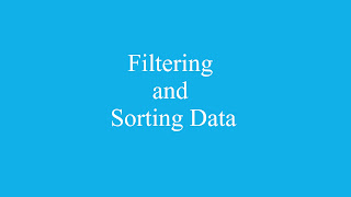 Filtering and Sorting Data