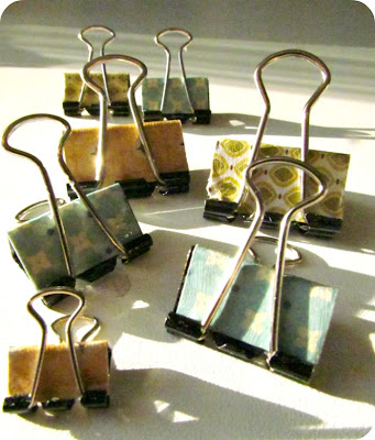Decorative Office Clips, Mod Podge clips