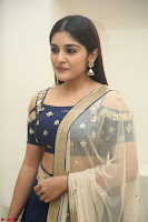 Niveda Thomas in Lovely Blue Cold Shoulder Ghagra Choli Transparent Chunni ~  Exclusive Celebrities Galleries 021.JPG