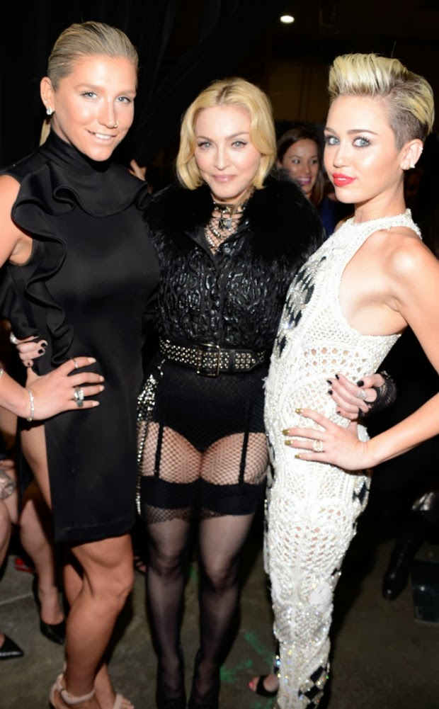 Madonna and Miley Cyrus sing together