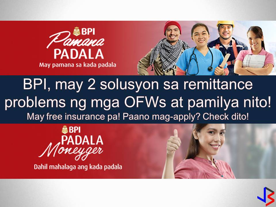 To have a trusted remittance center or money courier is very important for Overseas Filipino Workers (OFWs). With this, they can be so sure that their hard-earned money or remittances will go to their families back home.  Read more: http://www.jbsolis.com/2018/05/bpis-remittance-solution-for-ofw-and-their-families.html#ixzz5GPQZMjif