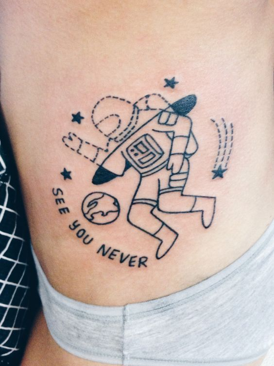 Mysterious Space Tattoos For Women