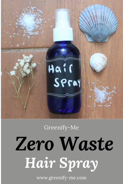 zero waste hair spray
