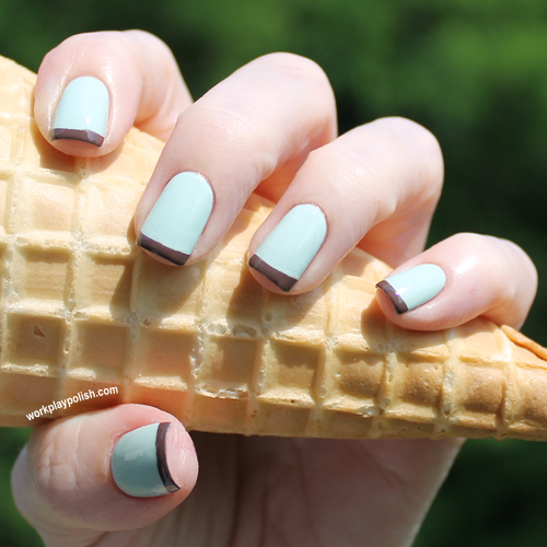 Mint Chocolate Chip French Mani
