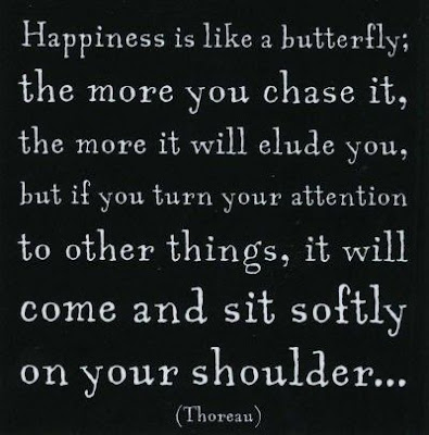 deep quote: happiness is like a butterfly the more you chase it.