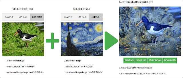 موقع جديد على شبكة الإنترنت يسمح لنا بتطبيق تأثيرات الرسامين على أي صورة