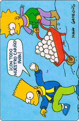 Bollycao The Simpsons Cromo 10