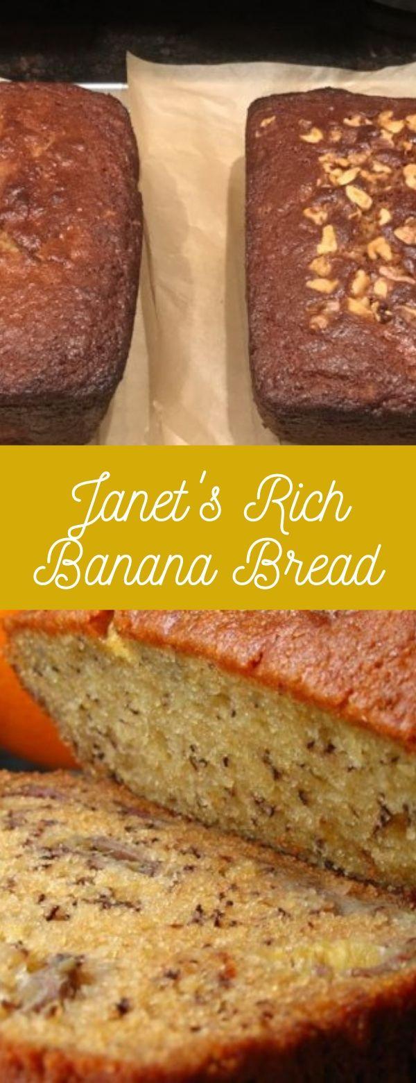 Janet's Rich Banana Bread #pancake #snacks #appetizers