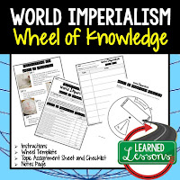 World Imperialism, Progressive Era, American History Activity, American History Interactive Notebook, American History Wheel of Knowledge