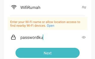 Wifi dan Password