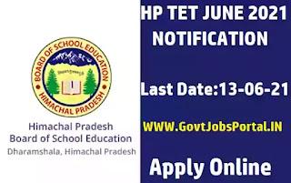HP TET June 2021 Notification