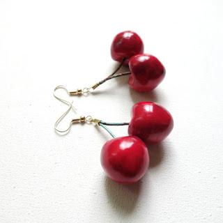 Cerises des beaux jours - boucles d'oreilles cherries earrings - La Fille du Consul -Delphine R2M