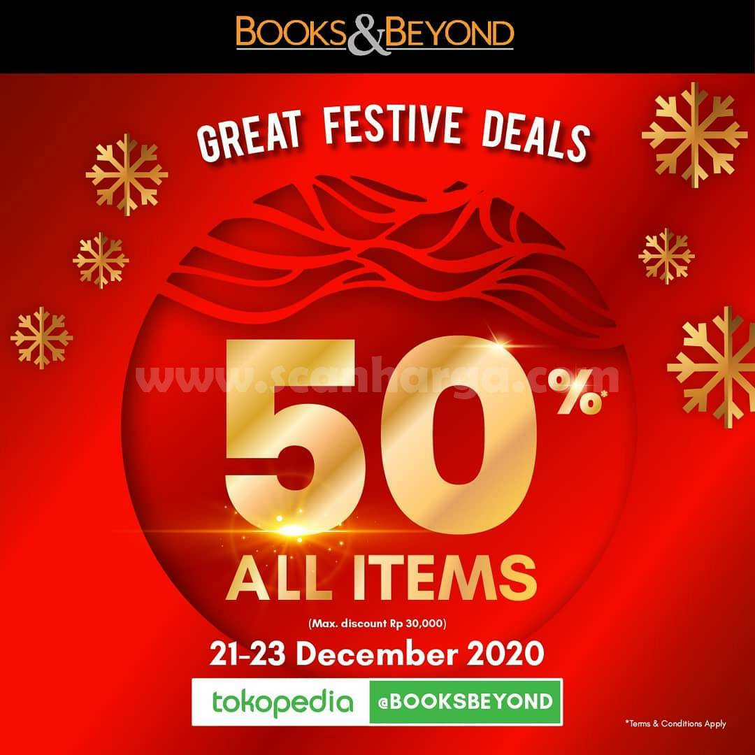 BOOKS & BEYOND GREAT FESTIVE DEALS – Up 50% All Items at Tokopedia
