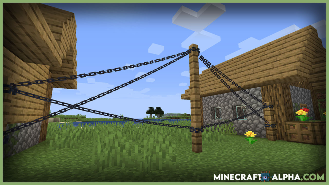 Minecraft Connectible Chains Mod 1.17.1 (Utility, Decorative)