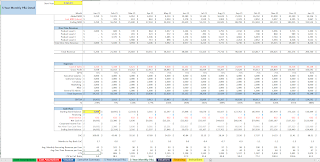 monthly cash flow summary for SaaS pro forma