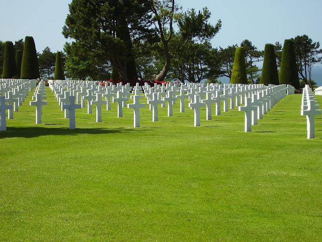 Cementerio de Colleville-sur-Mer en Normandía