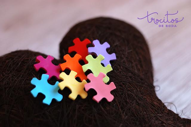Alfiler de boda de puzzle Alfiler de puzzle Trocitos de boda