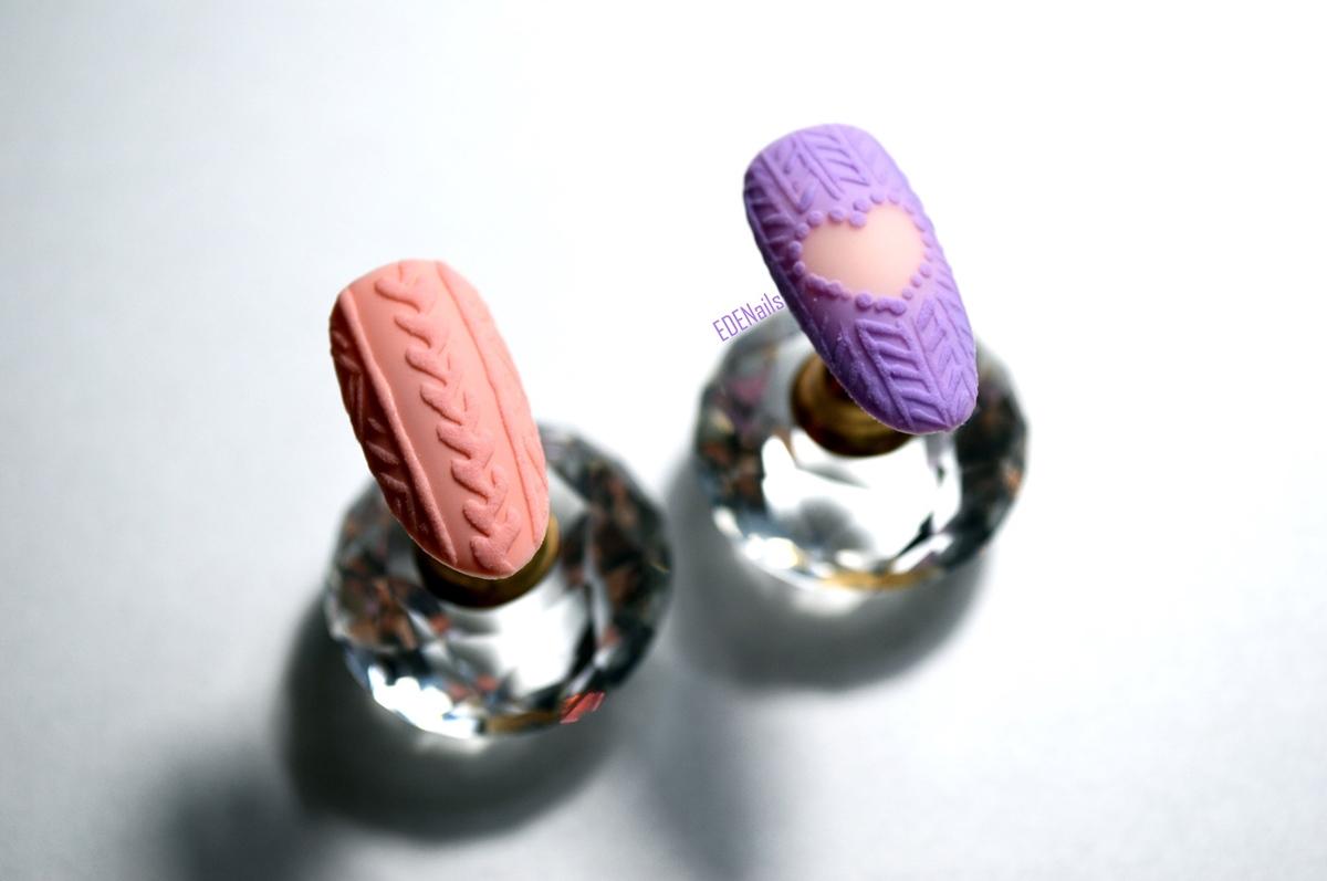 sweterek serduszka na paznokciach