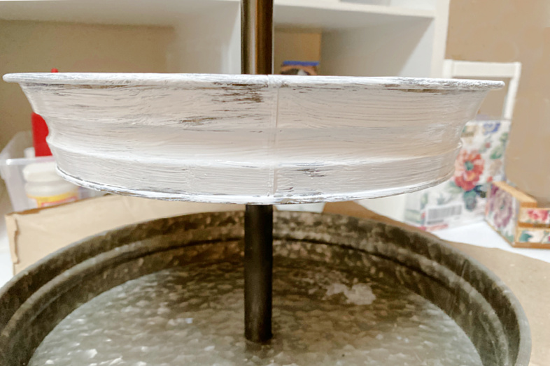 Galvanized Steel Tiered Tray Makeover