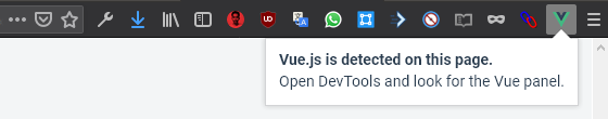 Vue is Detected