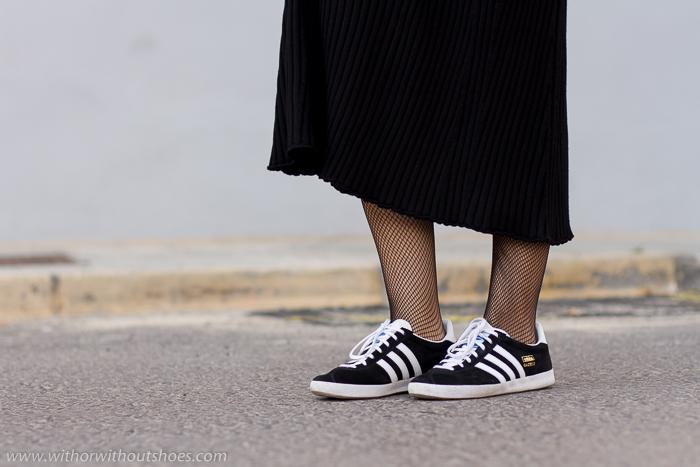 Blog adicta a los zapatos como combinar vestido y zapatillas deportivas