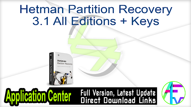 Hetman Partition Recovery 3.1 All Editions + Keys