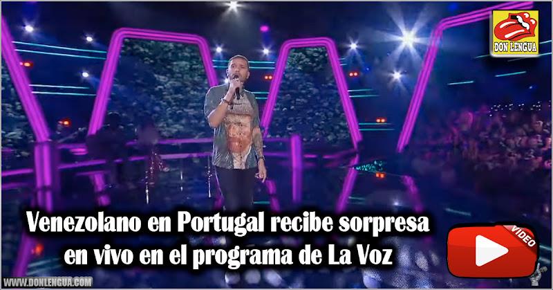 Venezolano en Portugal recibe sorpresa en vivo en el programa de La Voz