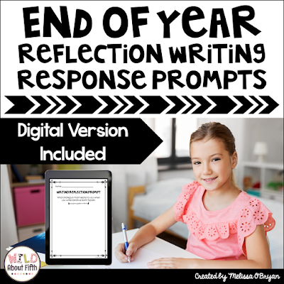 end of year reflection writing response prompts