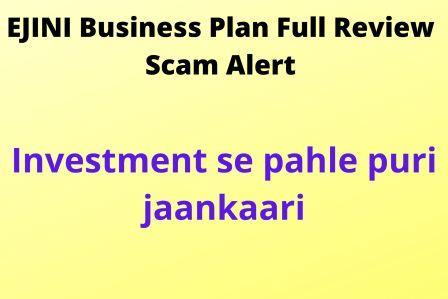 EJINI Business Plan Details