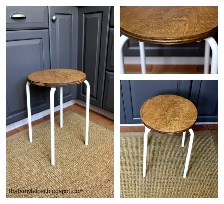 plywood stool reconstructed
