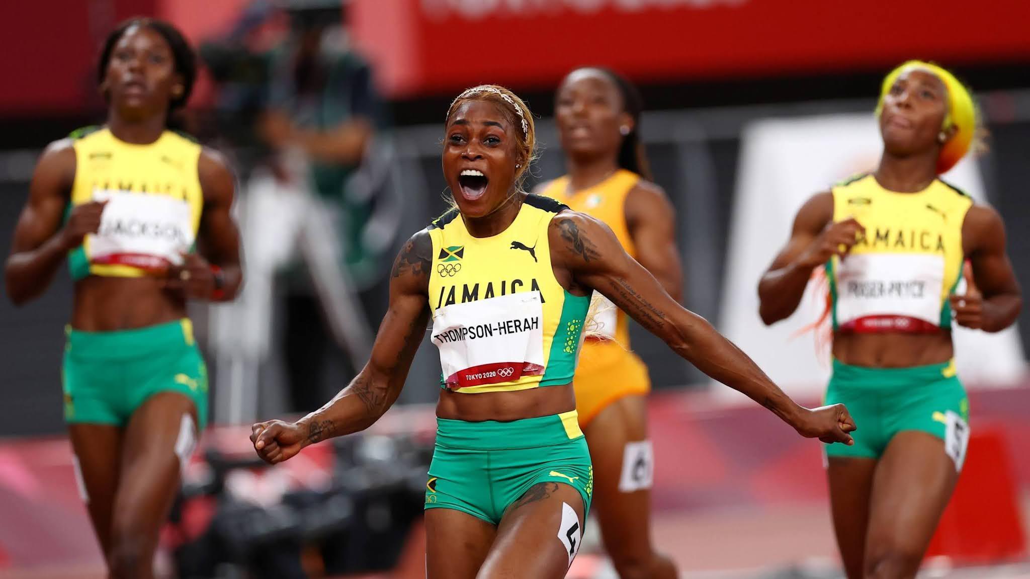 Campeã olímpica dos 100m rasos Tóquio