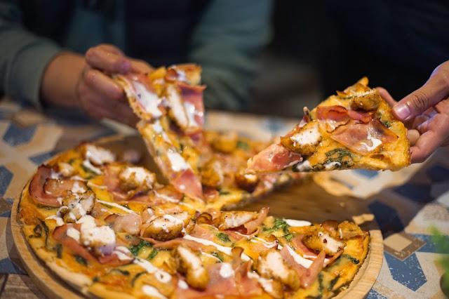 Cordon bleu, una pizza inigualable.