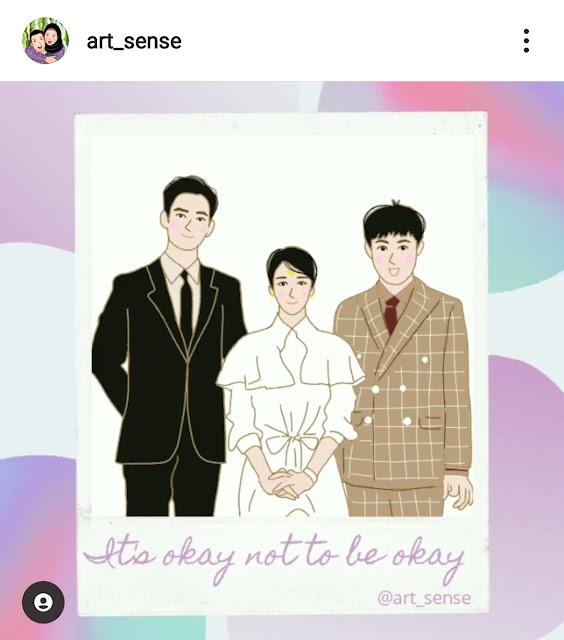 Fan art it's okay not to be okay