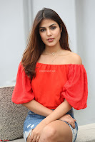 Rhea Chakraborty in Red Crop Top and Denim Shorts Spicy Pics ~  Exclusive 323.JPG