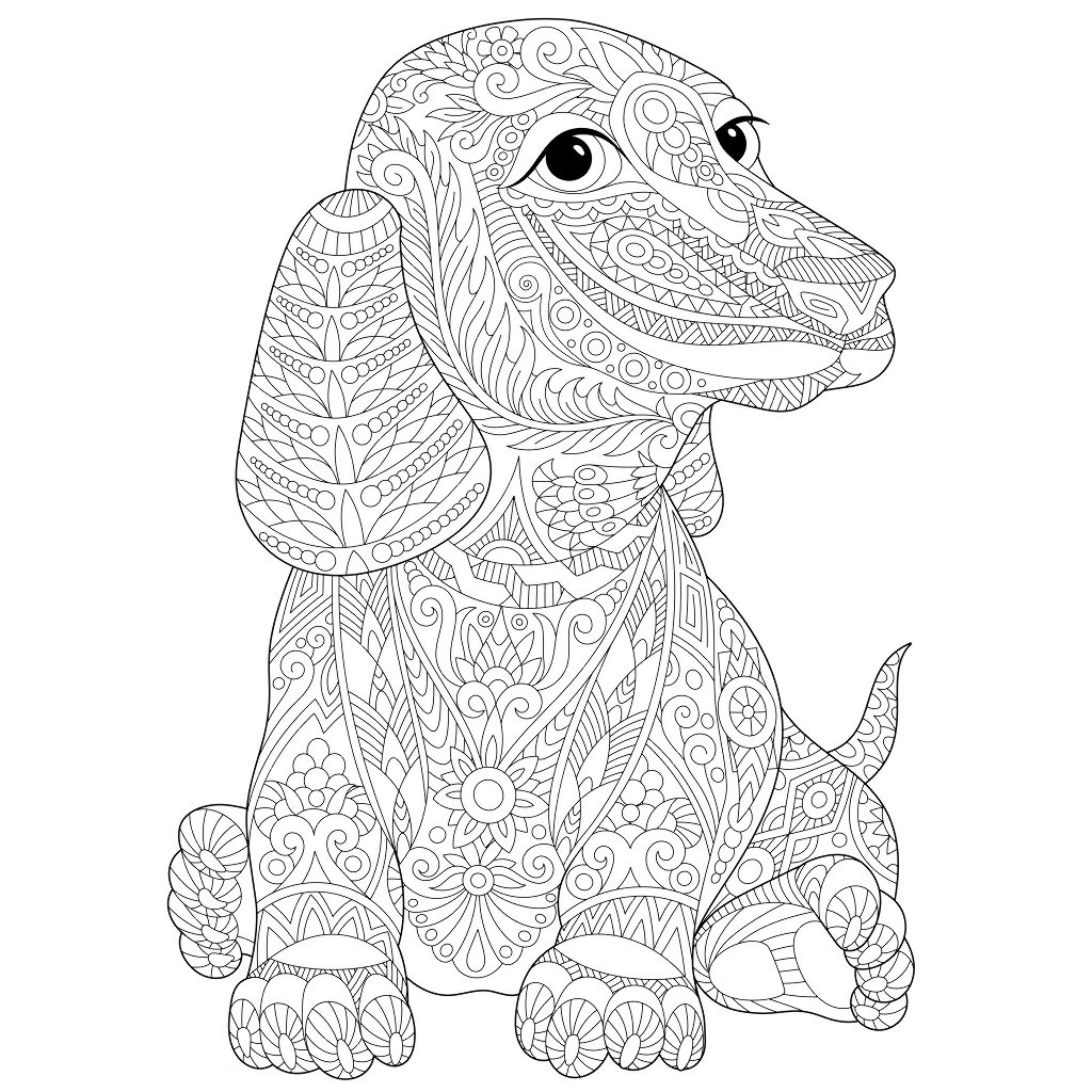 Dogs coloring pages 82