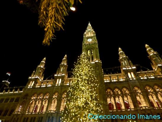 Ayuntamiento de Viena en Navidad