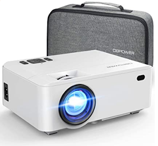 $48, Projector DBPOWER RD820 Mini Projector Portable Video Projector with Carrying Case