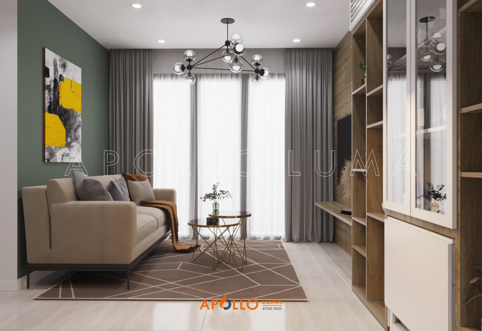 Thiết kế nội thất căn hộ 3 phòng ngủ S1.05-16 Vinhomes Ocean Park