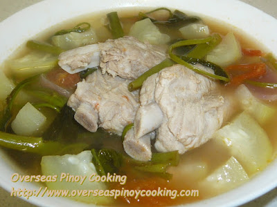 Pork Ribs Sinigang with Upo